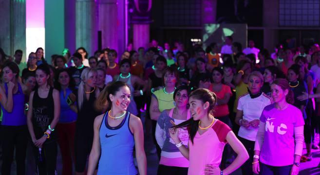 Entrenamiento organizado Nike Training Club y Yo Dona