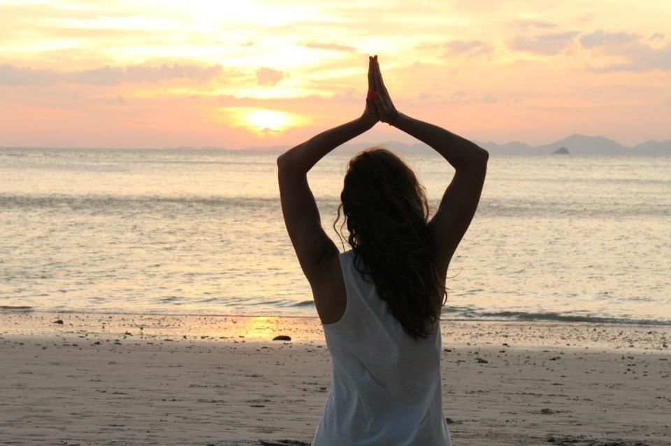 la meditación en el mar