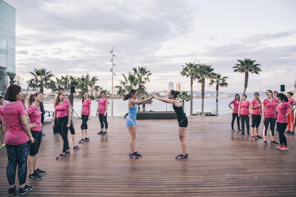 entrenamiento ntc en barcelona nike training paula butragueño