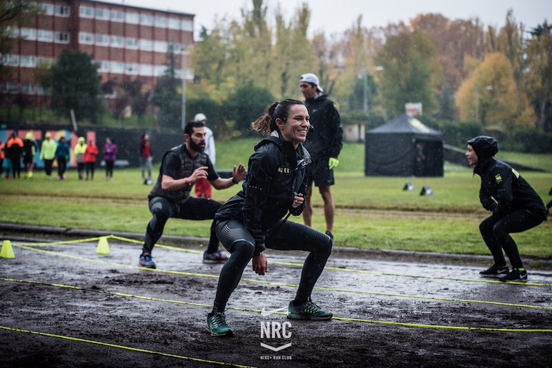 hit and run nike san silvestre madrid paula butragueño running lluvia frio zapatillas