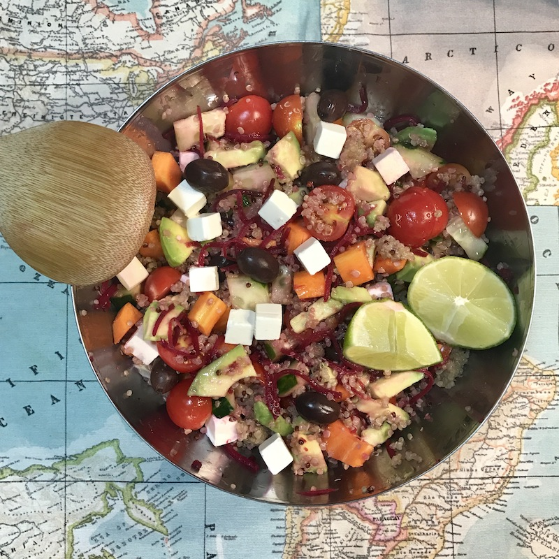recetas quinoa ensalada inspirafit salud alimentacion
