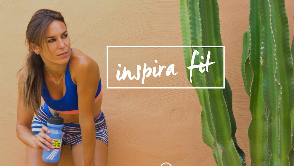 presentacion web inspirafit paula butragueño fitness running yoga tienda