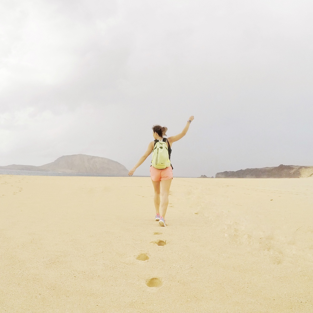 rutas para correr en lanzarote pau inspirafit la graciosa playa virgen