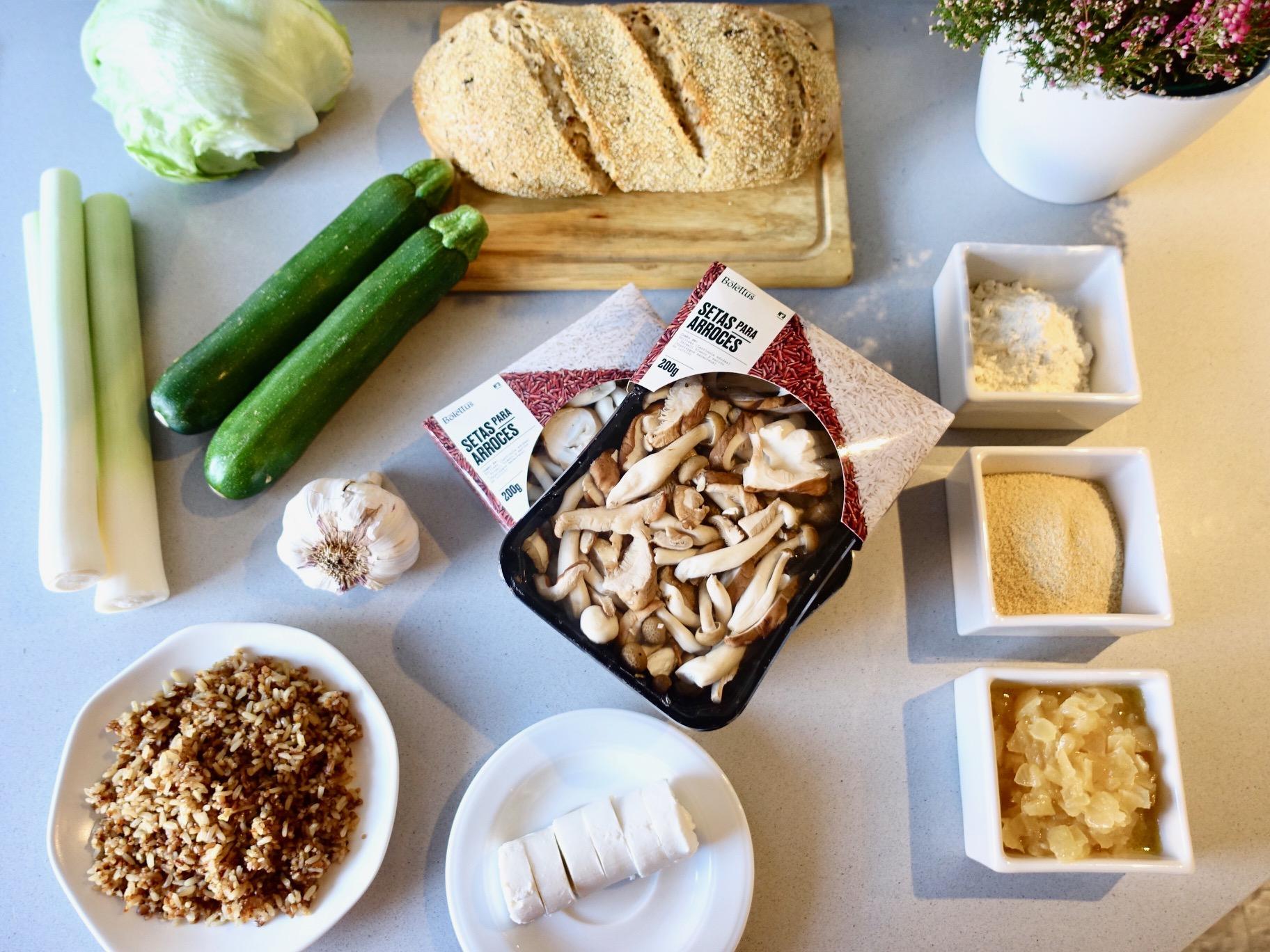 hamburguesa de setas receta quinoa