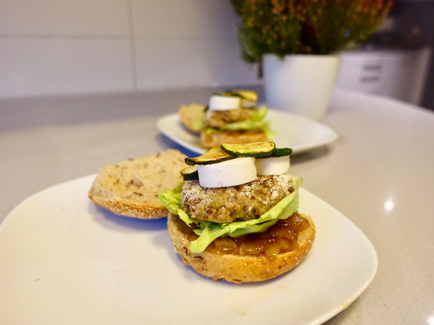 hamburguesa de setas receta