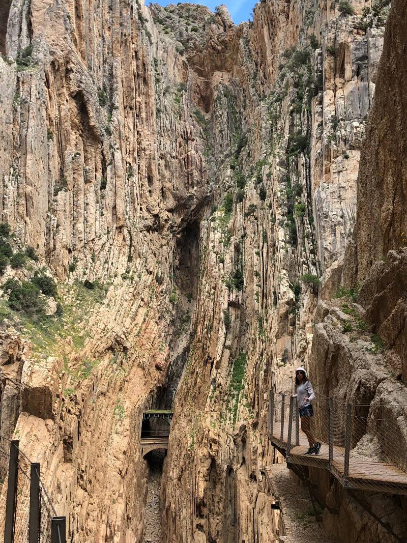 caminito del rey malaga paula butragueño