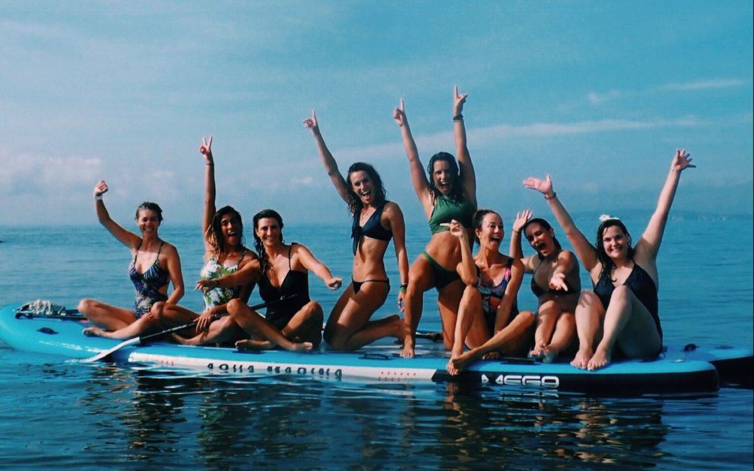 feel the flow pau inspirafit paddle surf yoga